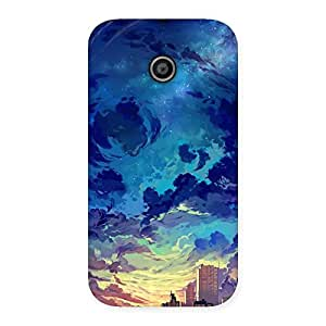 Abstract Cloud Back Case Cover for Moto E