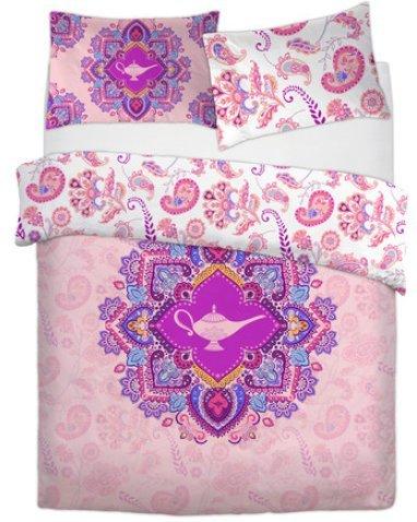 Primark Disney - Juego de Funda de edredón Doble para Cama Individual de Bend The Trend2, Rosa, Individual 135 cm x 200 cm