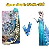 #5: Fancy Steps Accessories Frozen Elsa Anna (Crown Hair Band Frozen Wand)