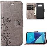 Coque Samsung Galaxy S8, Nakeey Flip Portefeuille Bookstyle Housse de Protection Coque Étui Case Cover Wallet Coque de protection Cuir pour Samsung Galaxy S8