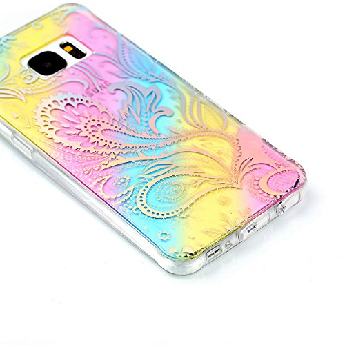 iPhone 7 Plus Cover, iPhone 8 Plus Cover, WindTeco Divertente Motivo Design Colorato Cristallo Trasparente Ultra Sottile Morbido TPU Gel Case Cover per Apple iPhone 7 Plus / iPhone 8 Plus Phoenix Coda