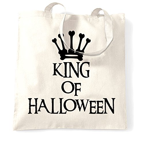 King Of Halloween Spooky Scary Kostüme Lustig Cool Creepy Königs Tragetasche (Scary Skelett Halloween Kostüme)