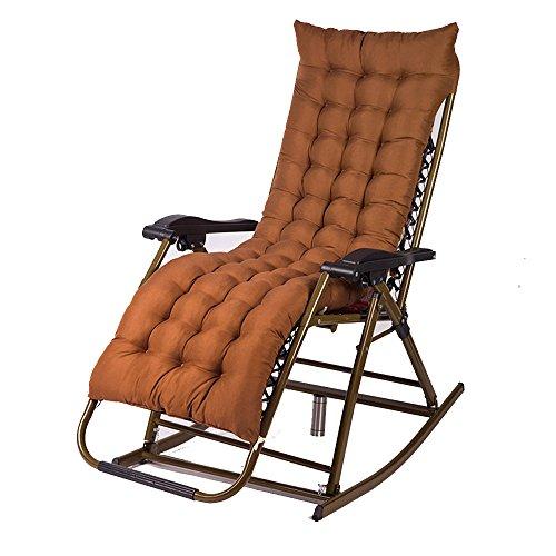 Xiaolin Fauteuil à Bascule Chaise inclinable Chaise de Pause déjeuner Chaise de vieillard Chaise de Balcon Pliage (Couleur : 05)
