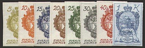 """Preisvergleich Produktbild Goldhahn Liechtenstein Nr. 17-24 """"Landeswappen, Burg Vaduz"""" Briefmarken für Sammler"""