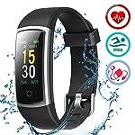 51gLy%2BJCCZL. SS150 LATEC Orologio Fitness Tracker Android iOS Cardiofrequenzimetro Monitor per la Pressione del Sangue Impermeabile IP68…