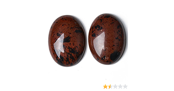 Charming Beads 1 x Marrone Pietra doro 18 x 25mm Cabochon Ovale CA16666-6
