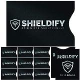 Shieldify RFID & NFC Schutzhülle (10+2 Stück) für Bankkarte, Ausweis, Kreditkarte, EC-Karte, Reisepass Kreditkartenhülle/Kartenschutzhülle mit RFID Blocker Zum Schutz Gegen unerlaubtes Auslesen