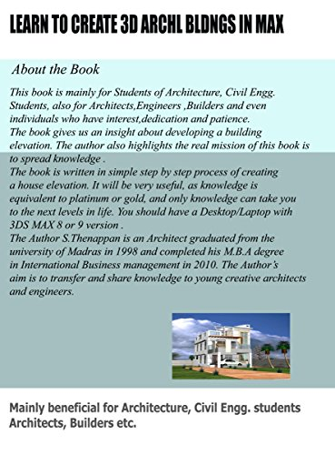 Create 3D Architectural Buildings Civil Engineering Books in Max ( 3D Architecture Books)
