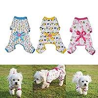 Meetforyou Chien Vêtements Chien Chat Combinaison Coton Doux Pyjama Chien Chiot Barboteuse pour Animal Domestique Ange Cosy Bodies pour Petits Chiens et Chats