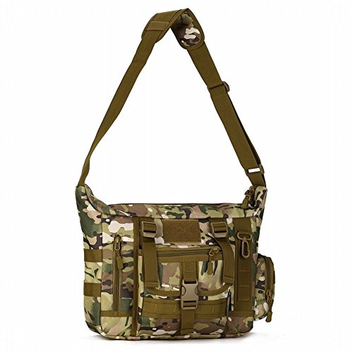 Hung Kai Support Laptop A4 Size Available in 4 Color Camouflage Waterproof Shockproof Outdoor One Shoulder Bag Business Bag Computer Bag (Magazin Geladene)