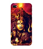 ifasho lord shiva Back Case Cover for Apple iPhone 4