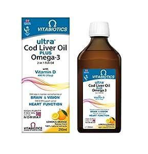 Vitabiotics ultra cod liver oil liquid 250 ml for Do fish oil pills expire