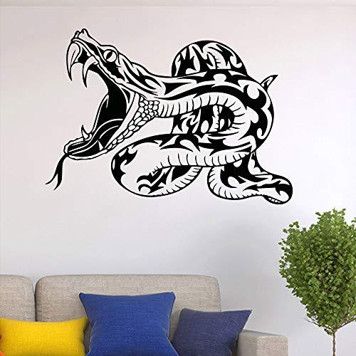 BFMBCH Schlange Kreatives Design Wandaufkleber Jungen Schlafzimmer Vinyl Dekorative Wasserdichte Kunst Aufkleber Schlafzimmer Dekorative Wandaufkleber gelb 58X41 CM