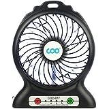 Ventilador de mesa , COO mini ventilador USB ventilador Portátil ideal para oficina , mesa y coche. (Negro)