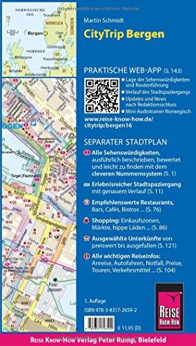 Reise Know-How CityTrip Bergen: Reiseführer mit Faltplan und kostenloser Web-App: Alle Infos bei Amazon