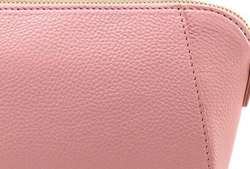 Borse In Pelle Borse A Tracolla Retro Conchiglie In Pelle Pink