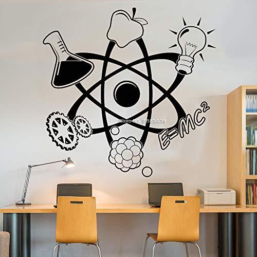 zqyjhkou Wissenschaft Atom Zitat Aufkleber Aufkleber Wand Vinyl Kunst Wohnkultur Lehrer Studie Schule Klassenzimmer Lustige Bildung Wandbilder Poster S 43 cm x 42 cm