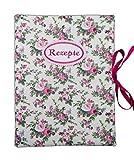 bettina bruder - Rezeptmappe DIN A4 - innen 30 Sichthüllen - Vintage Rosen creme rosa pink