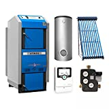 ATMOS SolarGSX50 Holzvergaserkessel GSX 50 Komplett-Set + Solar-Set 2 (11m²)