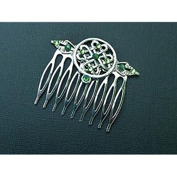 Haarkamm mit keltischen Knoten Irland Haarschmuck
