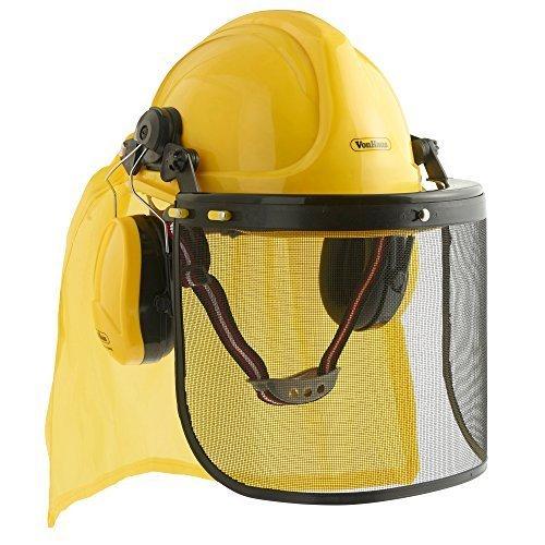 VonHaus Forsthelm Schutzhelm Kombination - Helm, Ohrenschutz, Visier & Cape
