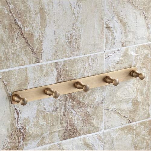 CYX 5 Haken Antikes Kupfer Kleiderhaken Europäischen Küche Wandhaken Bad Wand Handtuch Haken Tür Kleidung Haken Für Wohnzimmer Hauswirtschaftsraum (länge 37 cm) -