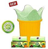 #10: Shalimar Premium Earth-Friendly/Eco-Friendly Garbage Bags (Small) Size 43 cm x 51cm 6 Rolls (90 Bags) (Trash Bag/Dustbin Bag) (Green Colour)
