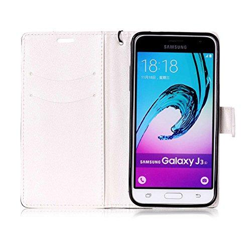 Galaxy-J3-2016-Custodia-Galaxy-J3-Custodia-Portafoglio-Galaxy-J3-2015-J3-2016-Custodia-Pelle-JAWSEU-3D-Goffratura-Ragazza-Gatto-Fiore-Diamante-Lusso-PU-Leather-Flip-Cover-Custodia-per-Samsung-Galaxy-J