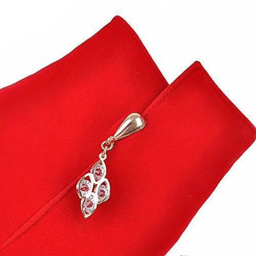 AgooLar Damen Nubukleder Rein Reißverschluss Hoher Absatz Stiefel Rot
