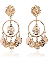 Cinderella Collection By Shining Diva Celebrity Inspired Golden Hanging Earrings