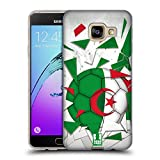Head Case Designs Algerien Fussball Glassplitter Soft Gel Hülle für Samsung Galaxy A3 (2016)