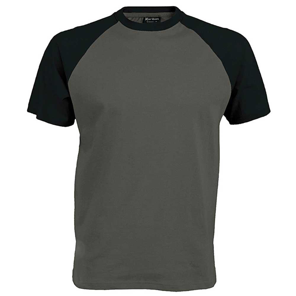 T shirt white black - Kariban Mens Colours Short Sleeved Cotton Baseball Sports T Shirt Amazon Co Uk Sports Outdoors