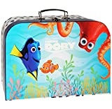 Unbekannt Koffer / Kinderkoffer -  Findet Nemo - Fisch Dory  - Pappkoffer - groß - Puppenkoffer Koffer - Reisekoffer aus Pappe mit Metall Griff - für Kinder Jungen & ..