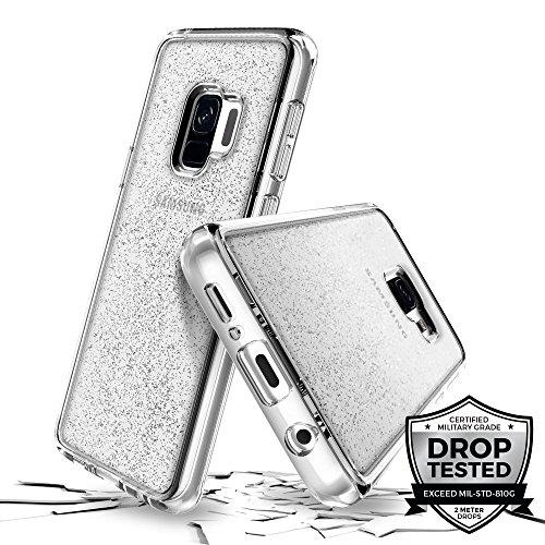 Prodigee [Superstar for Samsung Galaxy S9 case, Clear klar transparent 2 Meter Militär Drop Test Zertifiziert Schutz dünn Hülle Stück dünner dünn funkeln glänzen Glitzern Flakes