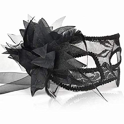 DOXMAL Black Lace Mask Bar Game Karneval Sexy Augenmaske und Lady Girl Sex Erwachsene