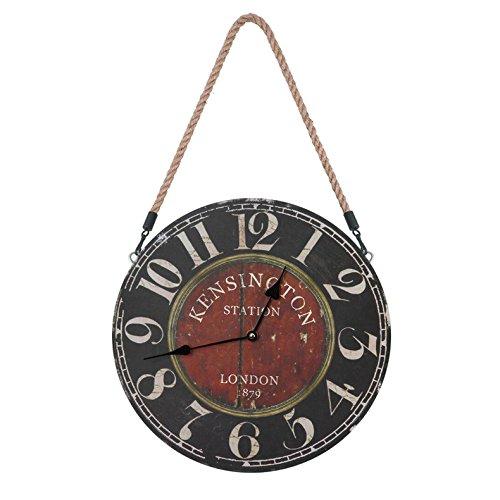 horloge murale CivilWeaEU- Horloges Européennes Mode Maison Horloge Electronique Bois Pas de Cadre DIY (Couleur : B)