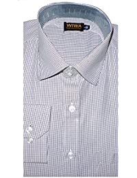 [Sponsored]Men's Formal Shirt, White Color With Black Strips For Office Wear :: Wise Wardrobe ::