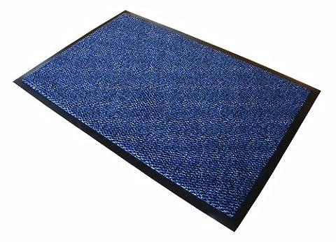 Doortex Paillasson en polypropylène attrape-poussière 900 mm x 1200 mm Noir et blanc Réf 49120DCBWV, bleu, 60 x 90cm