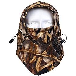 maaryee térmica polar Full Face Máscara cortavientos camuflaje Esquí Máscara Pasamontañas Outdoor cálido Head Capucha,, hombre, RZ-12