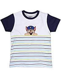 bba561c1 Planet Superheroes Paw Patrol Chase Multicolor Stripes White T-Shirt