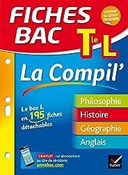 Fiches bac La Compil' Tle L: le bac L en 195 fiches de révision