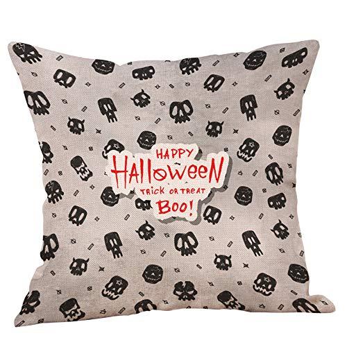 Halloween Kissenbezug Verkauf HUYURI Monster Schädel Kürbis Home Decor Throw ()