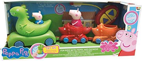 Peppa Pig - Tren de radio control, con luz y sonido, 49 x 19 cm (IMC 360181)
