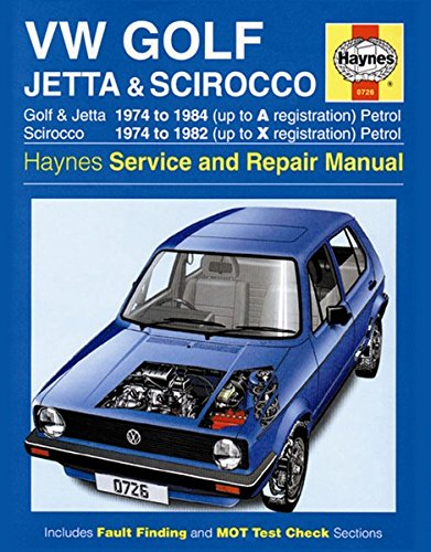 Volkswagen Golf, Jetta and Scirocco MK1(Petrol) 1974-85 Owner's Workshop Manual (Service & repair manuals)