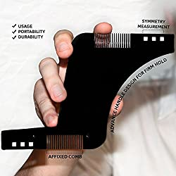 Kabello Beard Styling And Shaping Template Comb Tool (Black)
