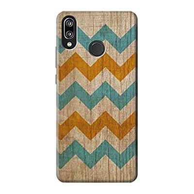 Vintage Wood Chevron Graphic Printed Case Cover Custodia per Huawei P20 Lite