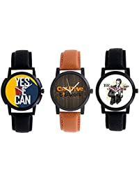 A R Sales Pack Of 3 Analog Watch For Mens And Boys 1-4-6