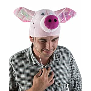 chapeau velours tête de cochon avec oreilles volantes