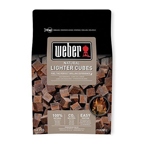 Weber Kologische Grillanznder 48 Stck Braun 38 X 17 X 5 Cm 17612