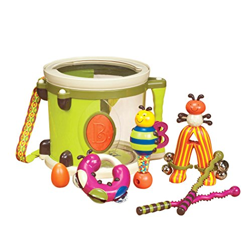 B toys - Parum Pum Pum - Toy Drum Kit with 7 Musical Instruments for Kids 18 months + (7-Pcs)